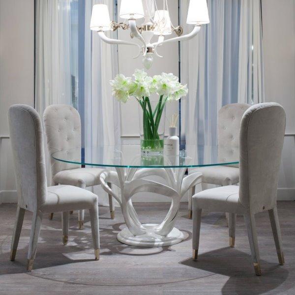 Tavoli da pranzo con piano in cristallo mobili stile for Tavoli da pranzo in cristallo