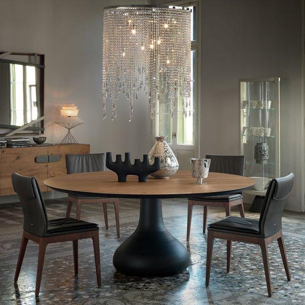Idee tavolo rotondo 10 modelli per la sala da pranzo arredaclick - Tavolo sala da pranzo ...