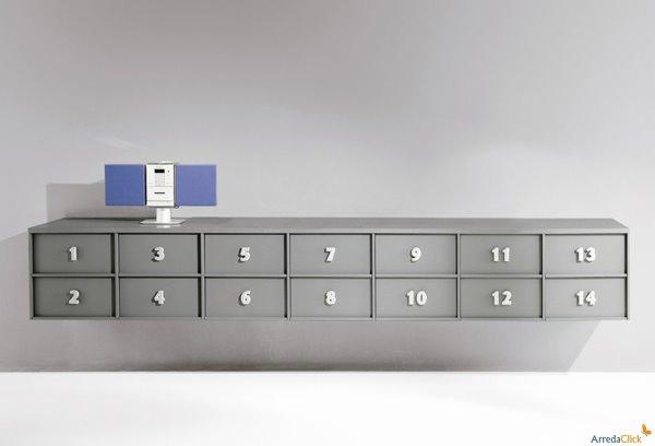 Idee mobili contenitori che danno i numeri in ufficio